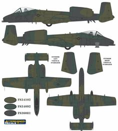 A-10A Thunderbolt II Europe I Color Profile and Paint Guide