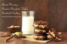 Award Winning German Chocolate Cake Sandwich Cookies - chewy chocolate coconut pecan cookies with coconut pecan filling Cookie Desserts, Cookie Recipes, Coconut Pecan Cookies, German Chocolate Cake Cookies, Sandwich Cookies, Vegetarian Chocolate, Holiday Baking, Food Gifts, Sweet Treats