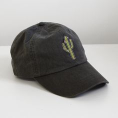 f7e1400affe Wildflower Co. - Cactus Embroidered Patch Baseball Hat - Choose your hat  color!