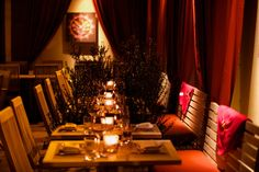The main dining room at Pera SoHo provides a great cozy dining experience in NYC.