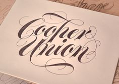 Type and Lettering: Cooper Union Workshops Fall 2013