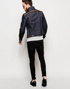 Image 4 ofNudie Denim Jacket Kenny Slim Fit Dry Embroidered Back