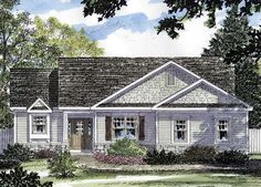 House Plan 94128 | Cottage Ranch Plan with 1422 Sq. Ft., 3 Bedrooms, 2 Bathrooms, 2 Car Garage
