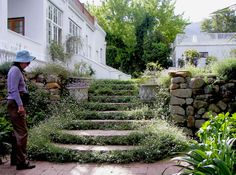 Hardscaping - stairs. Hohenort Cellars, South Africa.