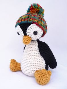 Penguin amigurumi free crochet pattern in English and Dutch- the hat I can try making like the little pumpkin pattern I have