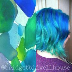 Seaglass-inspired hair by Bridget House using #KenraColorCreative! #KenraColor