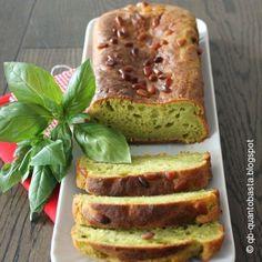 Plumcake salato al pesto di basilico e pinoli