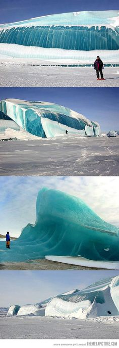 Frozen Wave in Antarctica…