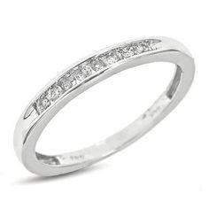 1/6 CT. T.W. Round Cut Diamond Women's Wedding Band 14K White Gold Wedding Ring - Free Gift Box - REVIEW