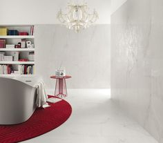 covering walls with a classical feeling crystal white - Lea Ceramiche. Коллекция Kalos. Передает яркость мрамора.
