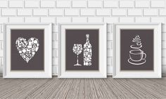 Kitchen decor  Kitchen wall art  Kitchen prints  by BlackPelican