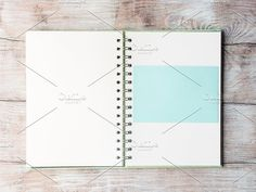 Open notebook blank page to fill with text Graphics Open notebook blank empty page to fill with text. Pastel color invitation card. Top view by Life Morning Photography