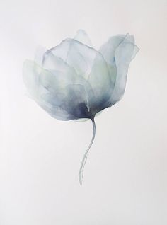 "Items similar to Blue Poppy large original art, inch watercolor, original painting, ""Translucent Blue Poppy"" modern translucent petals on Etsy Watercolor Landscape, Watercolor Print, Watercolor Illustration, Watercolor Flowers, Watercolor Paintings, Watercolor Paper, Original Art, Original Paintings, Blue Poppy"