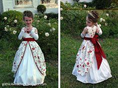 midevil weddings | Gothic Wedding Gowns and Victorian Flower Girl Dresses | Handmade ...