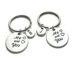 Couples Personalized Keychains Boyfriend by CharminTreasureChest