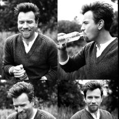 0e37f7d30277a Ewan McGregor (the photobooth series) So hot and handsome. I think my heart  just stopped beating.