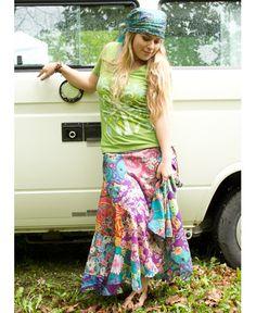 NEW! Wanderlust Patchwork Skirt #liviniseasy @Soul Flower    Crazy skirts. My weakness.