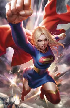 """After Supergirl protects Superman from getting infected by the Batman Who Laughs virus, she gets infected herself.and accepts this new version of herself with pride! With Batman and Superman claiming to want to """"cure"""". Dc Comics Girls, Dc Comics Art, Marvel Dc Comics, Cosmic Comics, Batman Returns, Batman Vs Superman, Female Hero, Dc Comics Characters, Dc Heroes"""