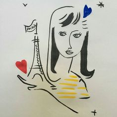 My story illustration by #jeancharlesdecastelbajac Mon histoire d'amour à première vue avec PARIS  dessinée par @jcdecastelbajac !  Merci @aeroportsparis  #lacoquetteitalienne