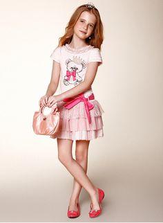 Conjunto Blusa com saia e Bolsa Diforini Pérola ou rosa