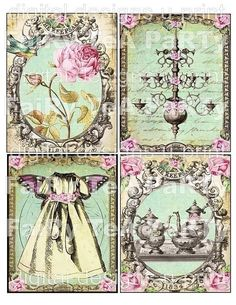 WHiMSiCaL FaiRy TeA PaRTy DIGITAL CoLLaGe by LandofEnchantment, $5.98