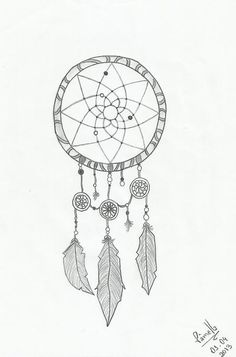 My drawing of a dreamcatcher.
