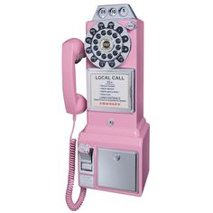 Crosley 1950's Classic Pay Phone Pink - CR56-PI