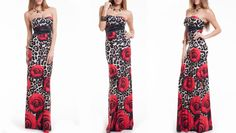 Flash Sale ❤️ Animal Print & Florals are never out of style! 30% off this Maxi Dress!  Dress- https://levixen.com/ROSIE-MULTI.html  #LeVixen #WomensClothing #SexyDresses #MaxiDress #AnimalPrint #Floral #OOTD #Fashion #Style #Monday #Roses #Sale   #FlashSale