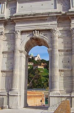 Ancona, Marche, Italy - Cathedral trough Traiano Arch - by Gianni Del Bufalo
