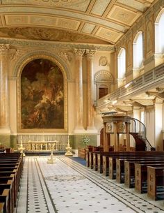 The Painted Chapel at the Old Royal Naval College, London