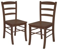 Winsome Ladder Back Dining Side Chair in Antique Walnut Finish transitional-dining-chairs
