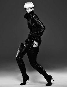 Christian Louboutin Thigh High Boots. Numéro China #23, 11.2012.