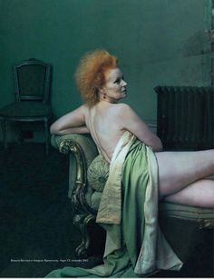 Vivienne Westwood photographed by Annie Leibovitz for Vogue US February 2003.