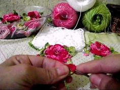 Flor com Folhas de croche completo