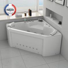 Distribain Baignoire balneo d& Eden whirlpool 24 jets Angles, Corner Bathtub, Jets, Home, Minimum, Bathrooms, Parents, Products, Places