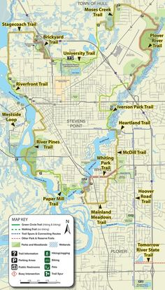 Map of the Green Circle Trail, one of the largest urban trails in the country. Runs throughout the Stevens Point area.