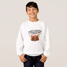 Family Vacation Thanksgiving Sweatshirt - family gifts love personalize gift ideas diy