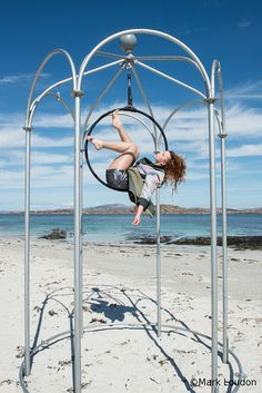 The Summer House -  This free standing aerial rig provides the perfect frame for an enchanting aerial hoop performance.