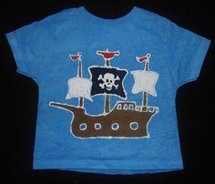 Kids Batik Pirate Ship Tshirt by TreeTownBatiks on Etsy https://www.etsy.com/listing/78583448/kids-batik-pirate-ship-tshirt