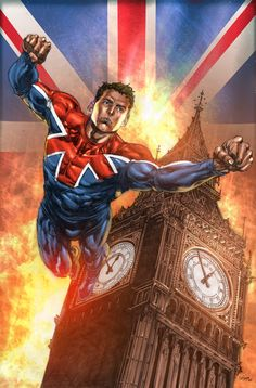 Captain Britain Lines by Mico Suayan Colors by Bryan Arfel Magnaye