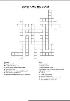 "#BatB crossword puzzle ""Beauty and the Beast"" @hcs8780 pic.twitter.com/Q9ndA4dF0V"