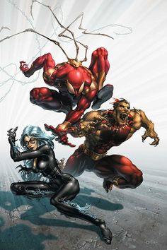 Spider-Man, Black Cat & Puma - Clayton Crain
