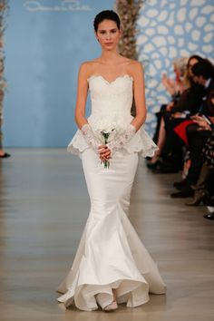 c0546d26050 2014 İLKBAHAR-YAZ GELİNLİKLERİ   Oscar de la Renta Wedding Dress Trends