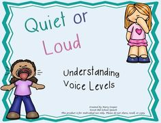 Help students understand appropriate voice level through activities. No color pages are included!1)Decide if the student should speak quietly or loudly, depending on the location in the school. The student daubs or colors  the circle corresponding with the correct response.2)The student looks at each location in the school and decides if the girl should speak quietly or can speak loudly.