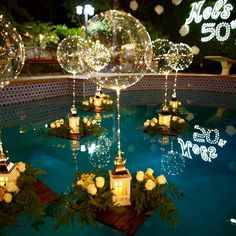 Reusable LED Balloons - Makes A Perfect Gift – Hourly Holiday Deals Pool Party Decorations, Balloon Decorations, Christmas Decorations, Mascarade Party Decorations, Swimming Pool Decorations, Balloon Ideas, Led Balloons, Light Up Balloons, Balloon Lights
