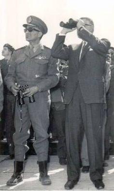 الزعيم جمال عبد الناصر مع الشهيد عبد المنعم رياض