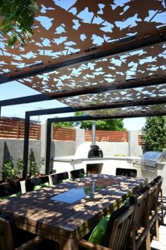 """Visceral Supplied Pergola in """"Fall"""" Pattern"""
