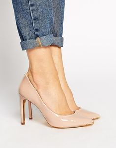 Ted Baker Nude Neevo 2 Pointed Court Shoes