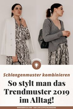 So stylt man dasjenige Trendmuster 2019 im Joch! Snake Print Boots, Snake Print Dress, What To Wear Tomorrow, Clothes 2019, Snake Patterns, German Fashion, Rock Outfits, Business Outfits, Printed Blouse