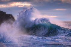Rough sea 26 - Pinned by Mak Khalaf A giant wave during a seastorm in Italy. Landscapes coastoceanseaseascapesurfwavewaves by gioallie #italylandscape
